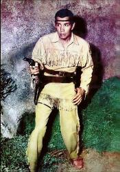 Tonto with gun drawn